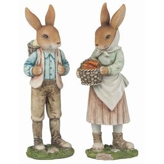 Shop Transpac Resin Brown Easter Traditional Bunny Farmer