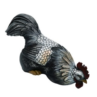 Transpac Resin  Multicolor Spring Peeking Chicken Statuette