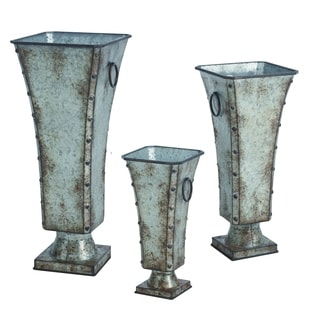 Transpac Metal  Silver Spring Regal Containers Set of 3