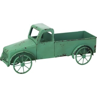 Transpac Metal  Green Spring Truck Container Outdoor Decor