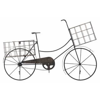 Transpac Metal  Pewter Spring Bicycle Wall Decor