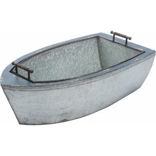 Transpac Metal  Silver Spring Rustic Boat Cooler