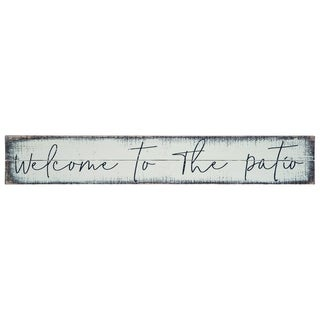 Transpac Wood  White Spring Welcome Patio Wall Sign Decor