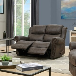 ProLounger 2 Seat Rolled Arm Recliner Loveseat