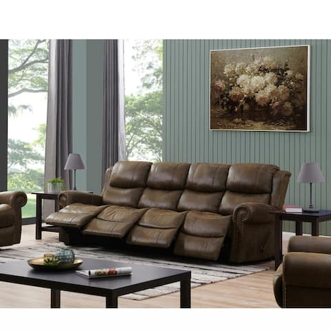 Copper Grove Wels 4-seat Rolled Arm Recliner Sofa