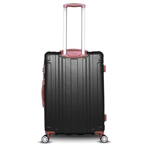 Gabbiano Bravo Collection 3 Piece Hardside Spinner Luggage Set Black