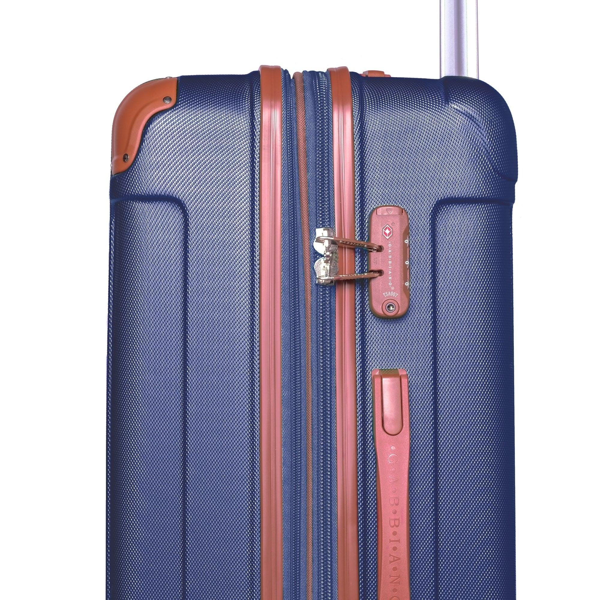 Gabbiano Bravo Collection 3 Piece Hardside Spinner Luggage Set Blue