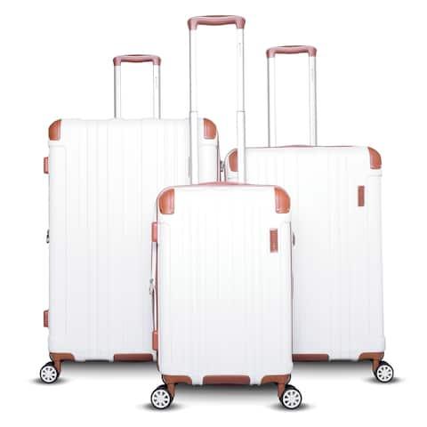 Gabbiano Bravo Collection 3-Piece Hardside Spinner Luggage Set