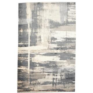 Soft Plush Abstract Dark Grey / Grey Rug - Rectangle