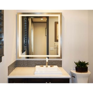Innoci-USA Terra Rectangle LED Wall Mount Lighted Vanity Mirror Featuring Dual Color Temperature Function & Smart Touch Control