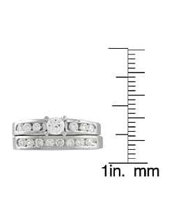 Journee Collection Sterling Silver Round Cut Bridal and Engagement CZ Ring - Thumbnail 2