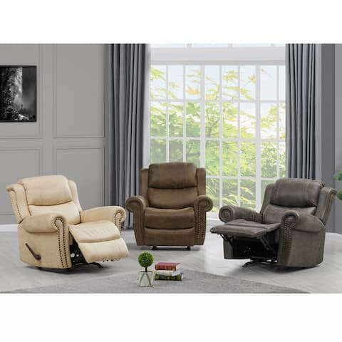 Copper Grove Dilsen Extra Large Rolled Arm Rocker Recliner Chair