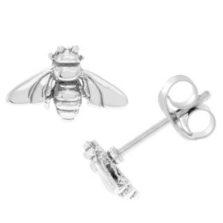 Journee Collection Sterling Silver Honey Bee Stud Earrings