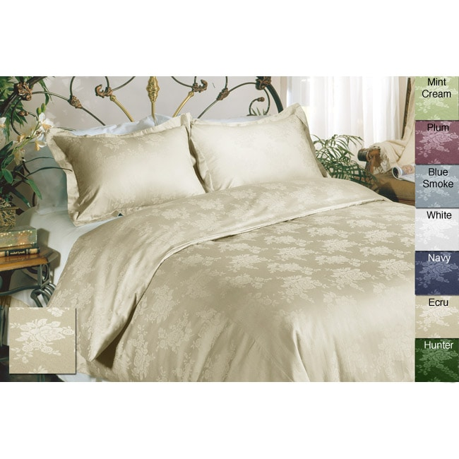 Floral Cotton 3-piece Duvet Cover Set