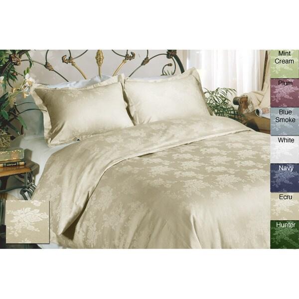 Floral Cotton 3-piece Duvet Cover Set