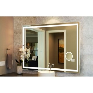 """Innoci-USA Eros Rectangle LED Wall Mount Lighted Vanity Mirror Featuring Dual Color and Smart Touch Control 48""""W x 35""""H"""