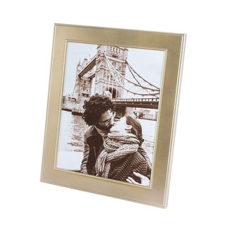 "Elegance Gold Matte Finish Beaded Design Picture Frame, 8x10"""