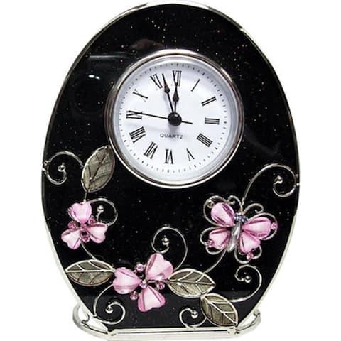 Jiallo Pink Butterfly Clock