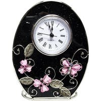 Elegance Pink Butterfly Clock