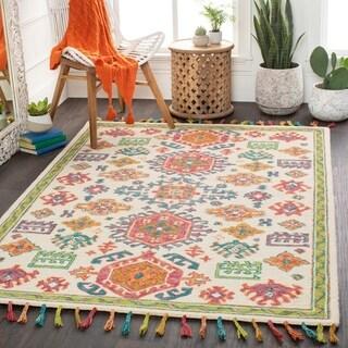 Salvatrix Vibrant Boho Wool Area Rug
