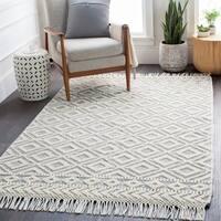 Janvier Heathered Modern Rustic Wool Area Rug