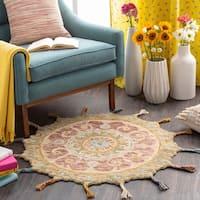 Danai Boho Paisley Wool Round Area Rug