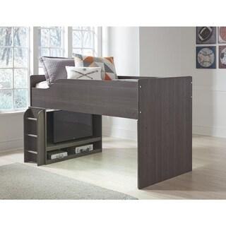 Annikus Grey Twin Loft Bed
