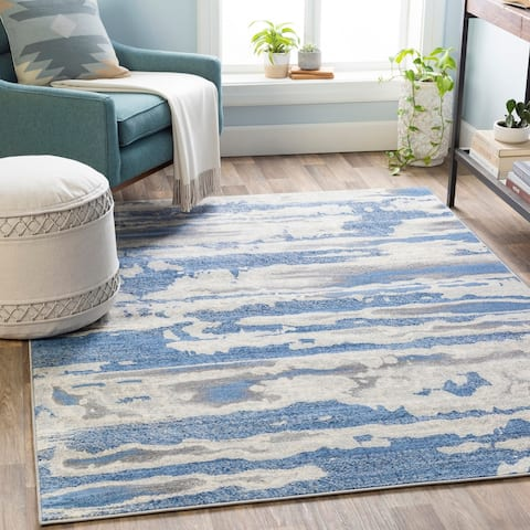 Strick & Bolton Frost Modern Abstract Area Rug