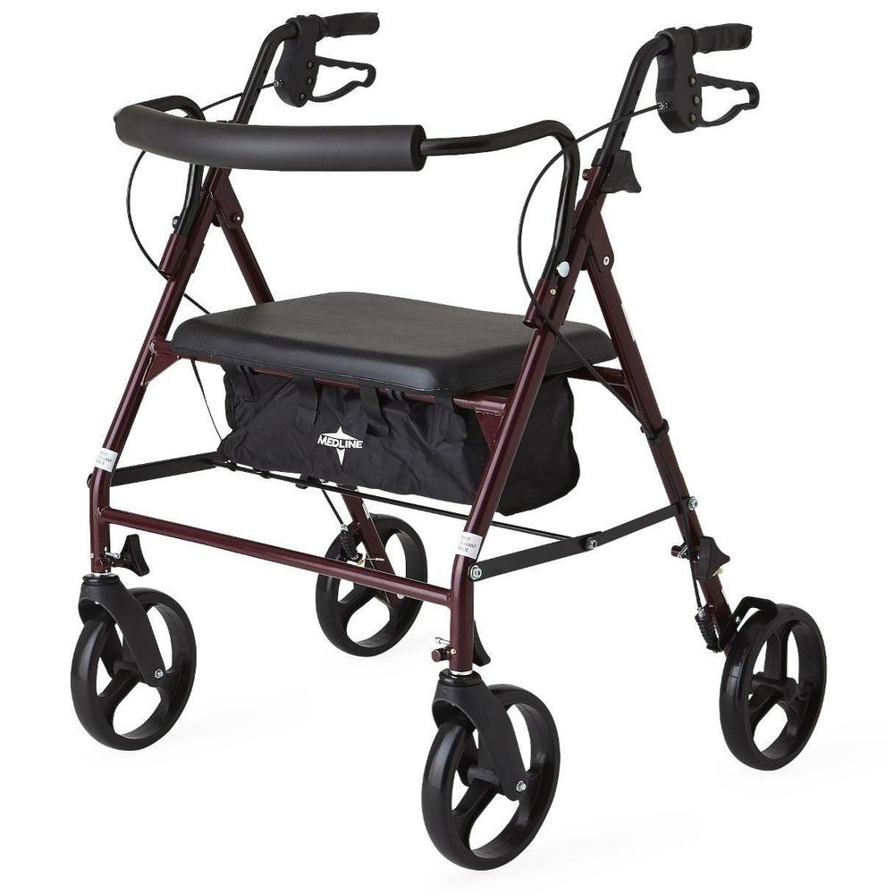 Medline Standard Bariatric Heavy-duty 500 lb. Weight Capacity Rollator Walker (As Is Item)
