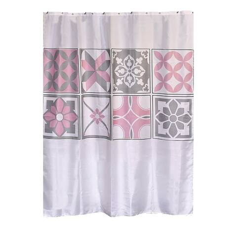 Bastide Printed Polyester Fabric Shower Curtain