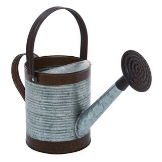 Transpac Metal  Silver Spring Rustic Watering Can