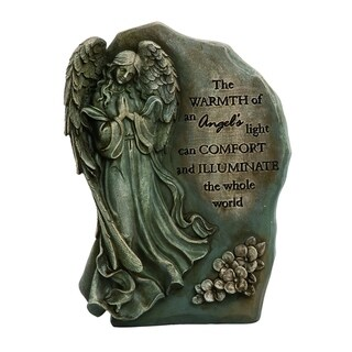 Transpac Resin  Gray Spring Memorial Angel Stone