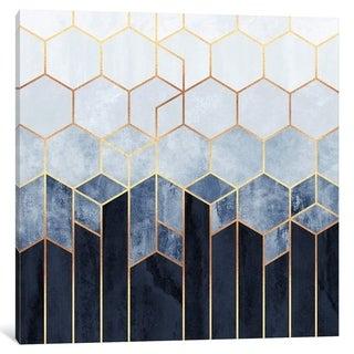 "iCanvas ""Soft Blue Hexagons"" by Elisabeth Fredriksson"
