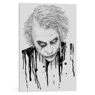 """iCanvas """"The Joker"""" by Nicebleed"""
