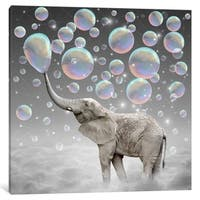 """iCanvas """"Dream Makers - Elephant Bubbles"""" by Soaring Anchor Designs"""