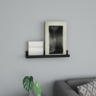 Floating Wall Ledge Shelf with Hidden Brackets- Display Shelf- Hardware Included by Lavish Home