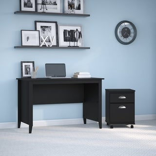 Connecticut Desk and File Cabinet from kathy ireland Home by Bush Furniture