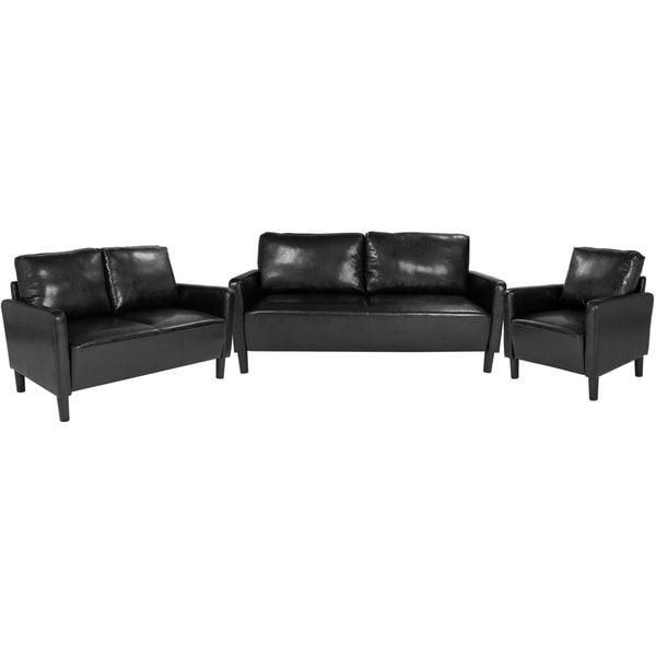 3 Piece Straight Arm Sofa Set