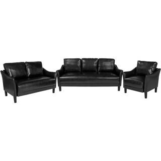 3 Piece Slanted Arm Sofa Set