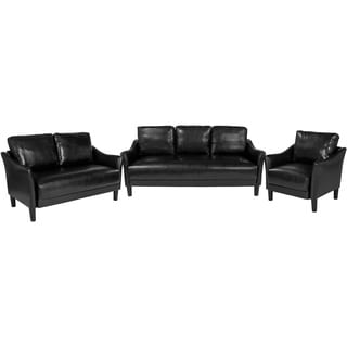 3 Piece Slanted Arm Sofa Set
