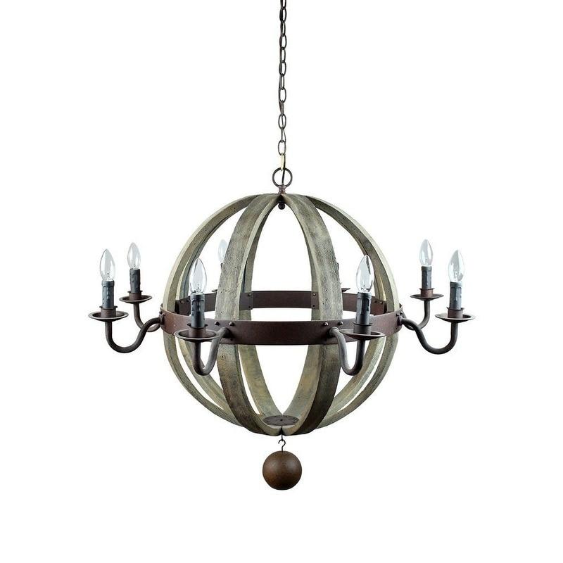 Wooden Orb Light Fixture Natural