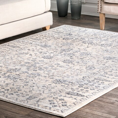 Porch & Den Vineland Vintage Boho Bloom Border Area Rug
