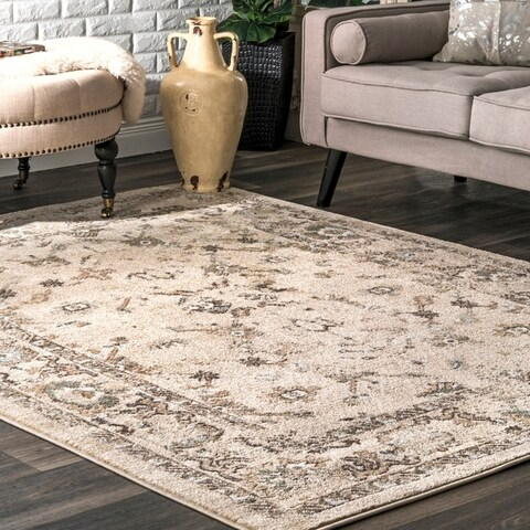 Copper Grove Zavidovici Persian Branch Bloom Border Area Rug