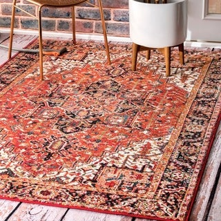 Link to Copper Grove Vardenis Traditional Indoor/ Outdoor Bloom Border Area Rug Similar Items in Rugs
