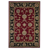 Copper Grove Veit Red/Black Traditional Area Rug