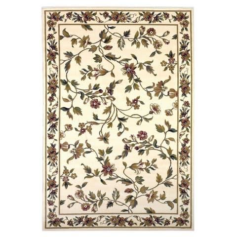 Copper Grove Veit Ivory Classic Floral Area Rug