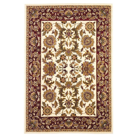Copper Grove Veit Ivory/Red Classic Traditional Area Rug