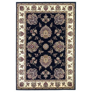 Domani Lexington Classic Black/Ivory Floral Area Rug