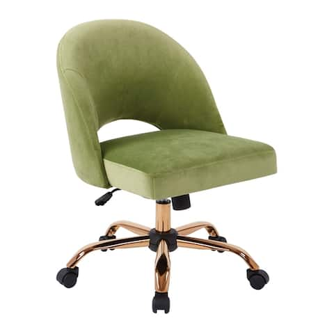OSP Home Furnishings Lula Office Chair with Rose Gold Base