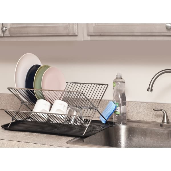 Ybm Home Steel Collapsible Dish Drying Rack Foldable Kitchen Plate Rack  2559vc